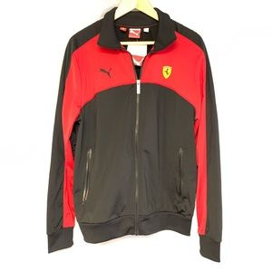 Puma Ferrari track jacket black red NWT medium